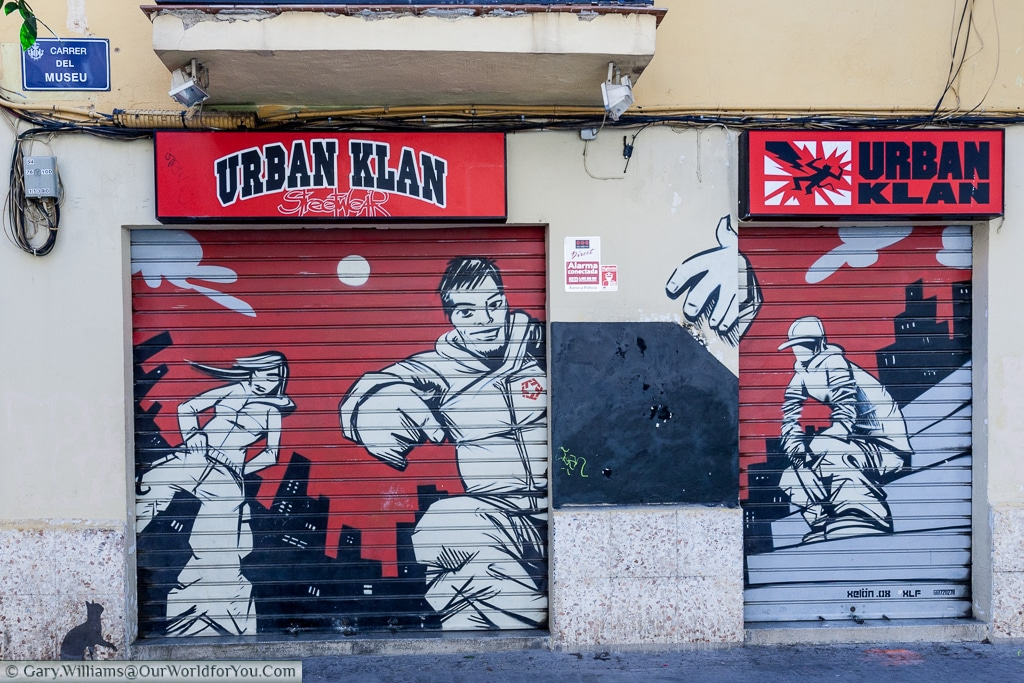 Urban Klan to be found on the Carrer del Museu, Valencia, Spain