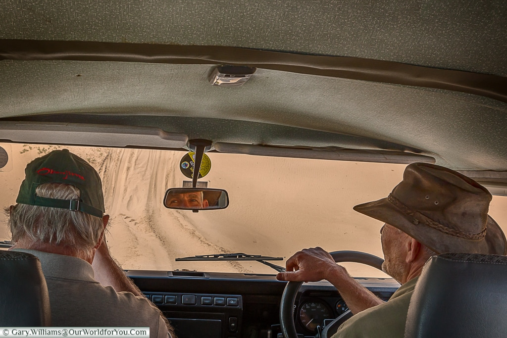 Ernst goes for a drive, Sandwich Bay, Namibia