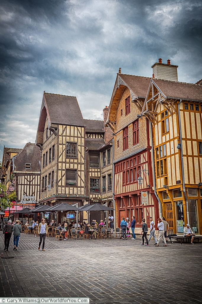 Town centre, Troyes, Champagne, Grand Est, France