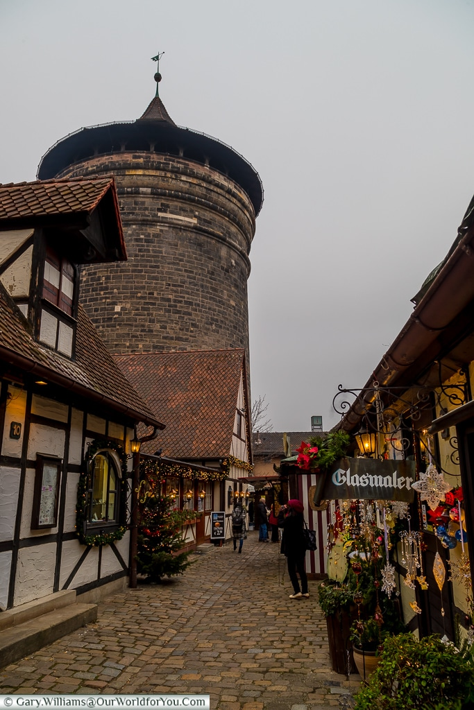 Inside the Craftsmens Courtyard, Nuremberg, Germany