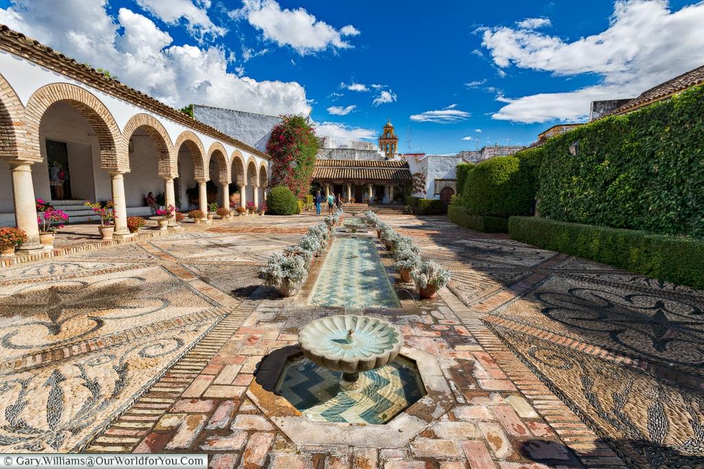 Beautiful open spaces in the Palacio de Viana, Cordoba, Córdoba, Spain