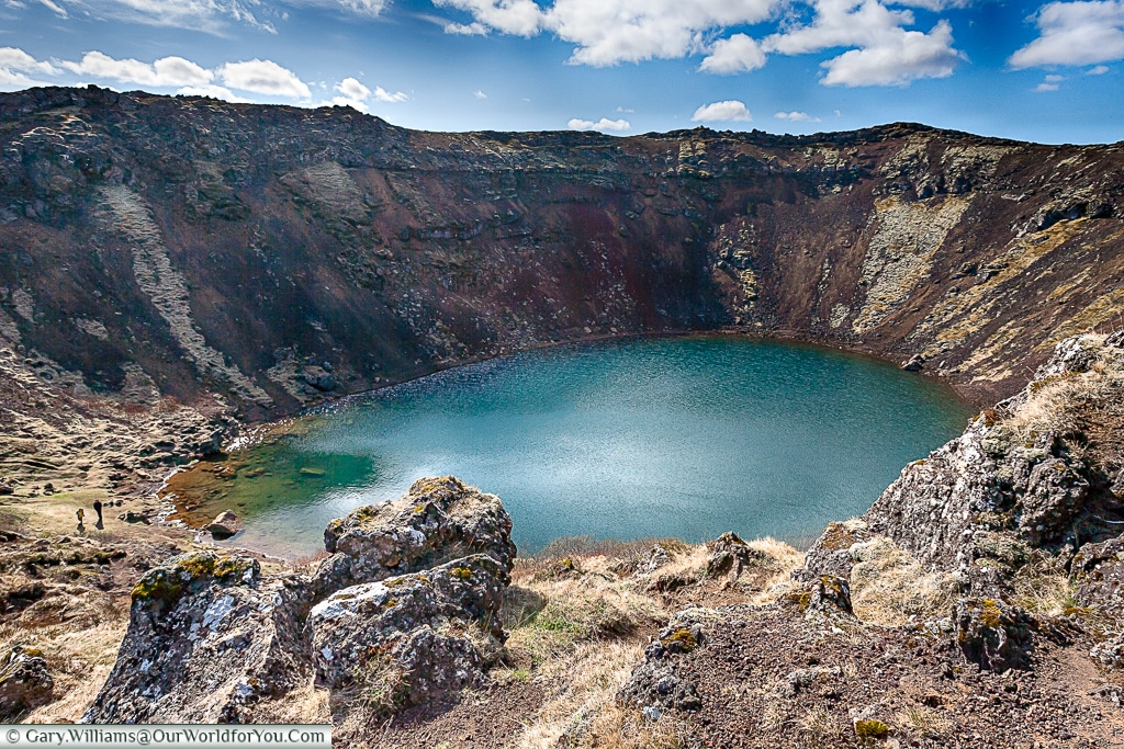 Kerið Crater Lake on the Golden Circle, Iceland