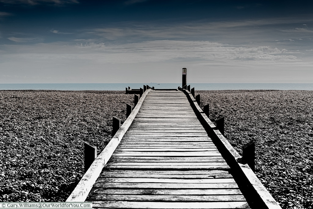 The walk to the sea, Dungeness, Kent, UK