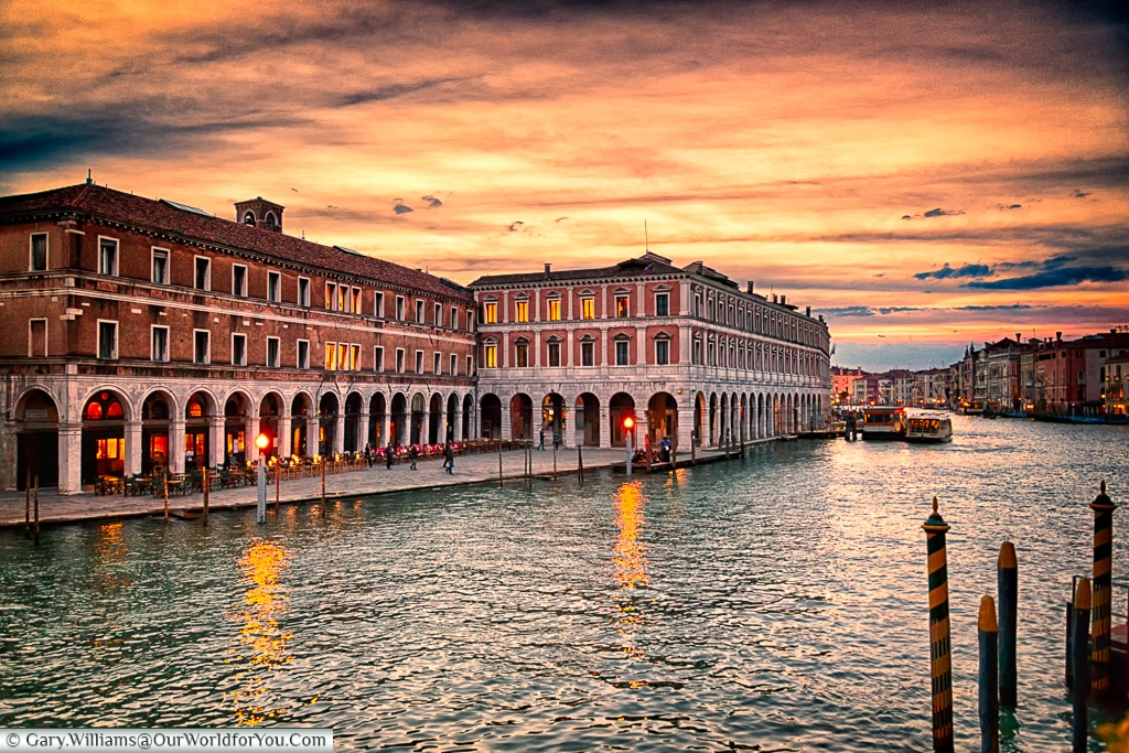 Looking across the Grand Canal, Venice, Italy