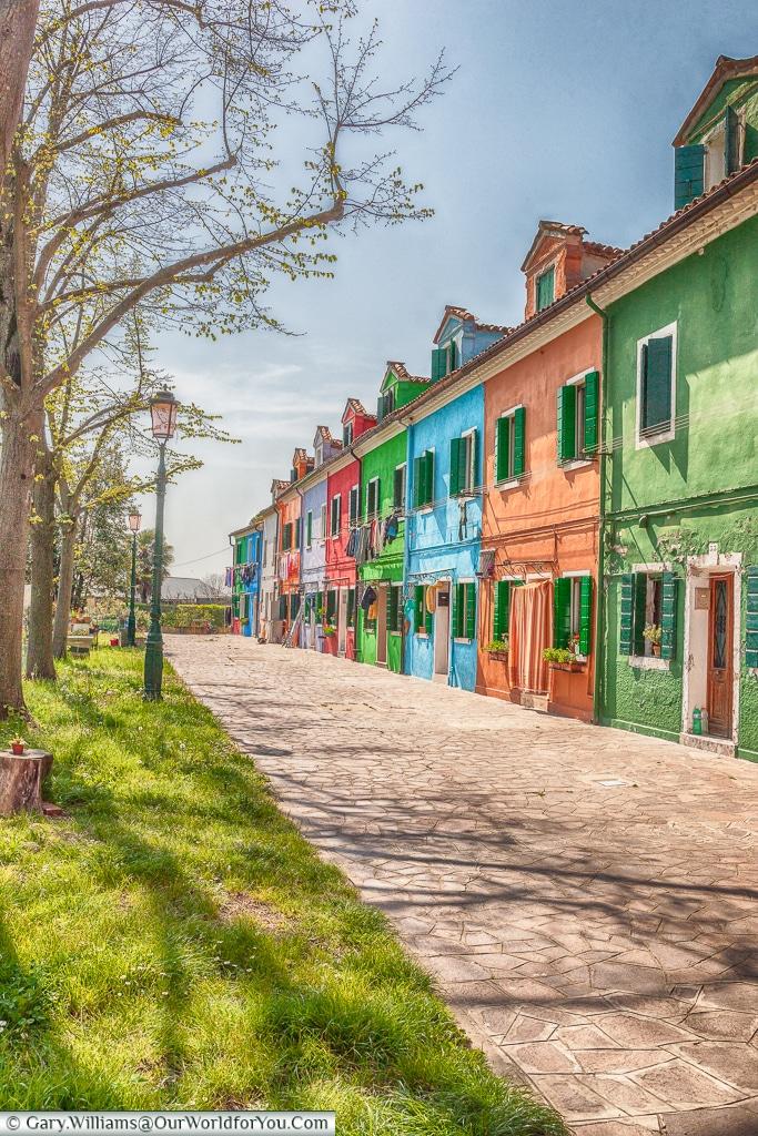 Terraced colour, Burano, Venice, Italy