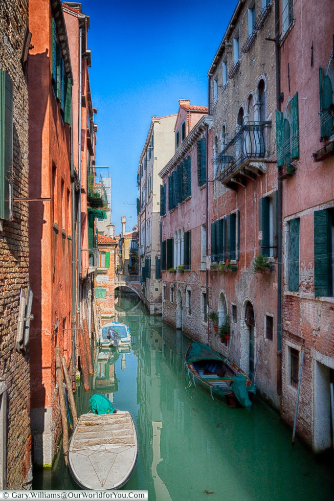 The maze of canals, Venice, Italy