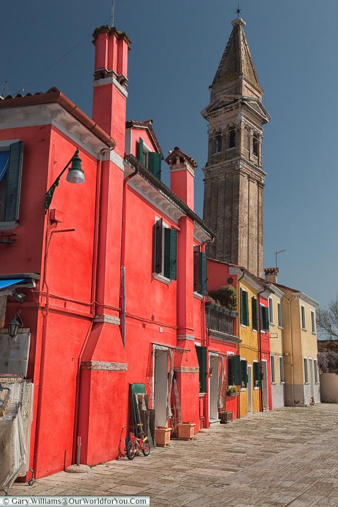 Unbelievably red, Burano, Venice, Italy