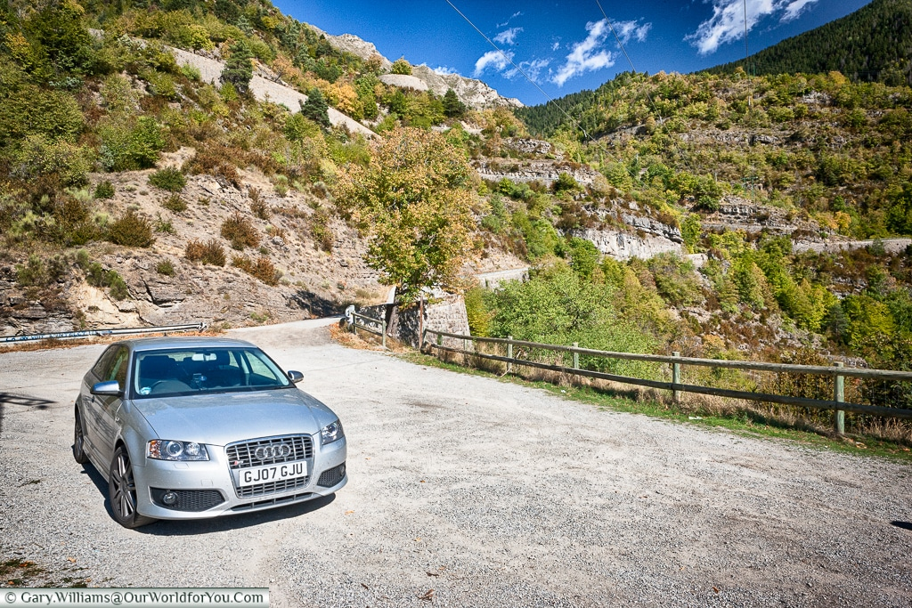 The Audi S3 in the south of France.