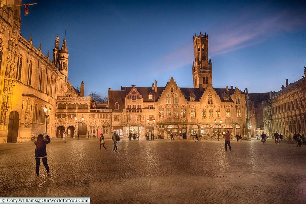The Burg at night, Bruges, Belgium