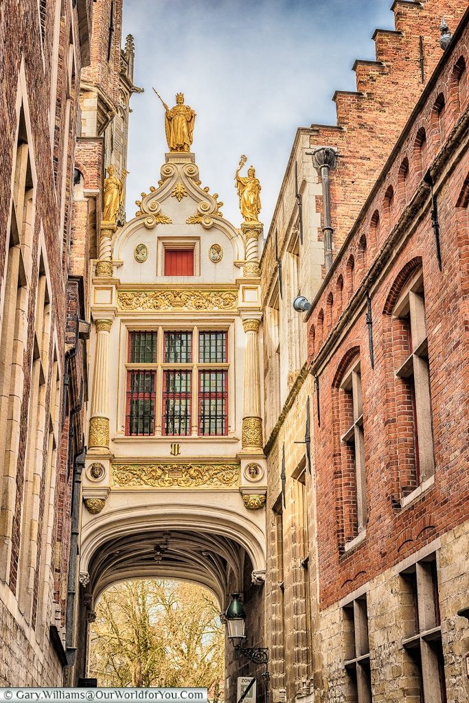 The arch to the Burg, Bruges, Belgium