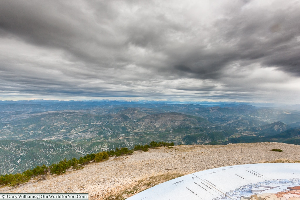 The view from the top of Mont Ventoux, France