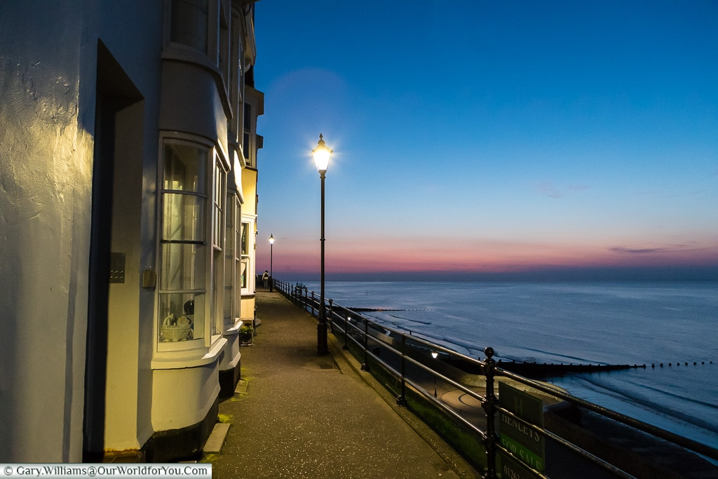 Sunset over Cromer, Norfolk, England, UK