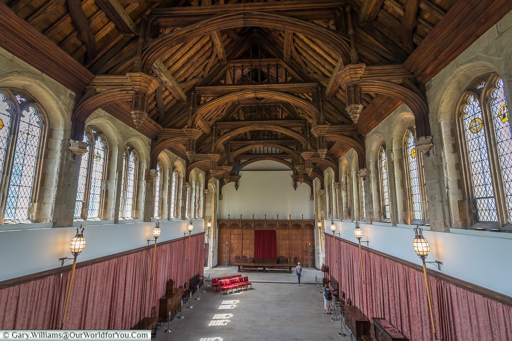 The Great Hall from the gallery, Eltham Palace, London, England,