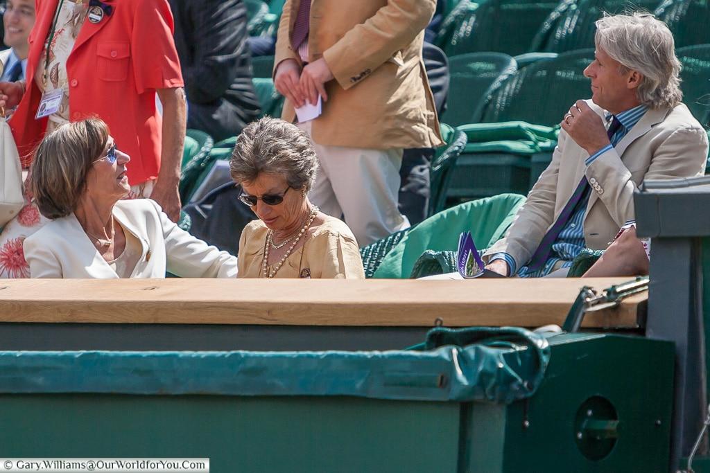 Virginia Wade and Bjorn Borg, Tennis, Wimbledon, London, England