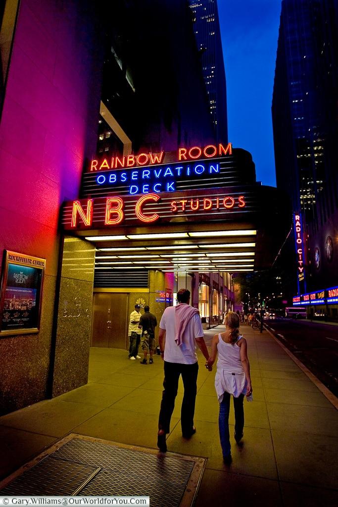 A night on the town, Manhattan, New York, USA
