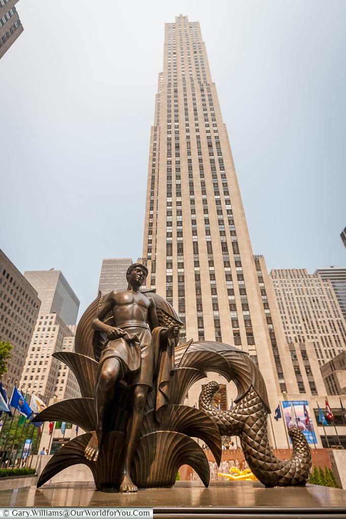 Paul Manship Statue, Manhattan, New York, USA