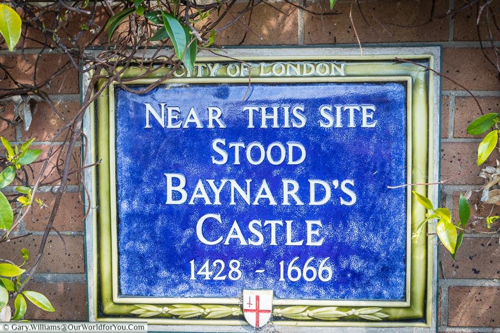 Barnards Castle Plaque, City of London, London, England, UK