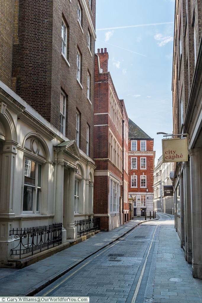 Deserted streets, City of London, London, England, UK