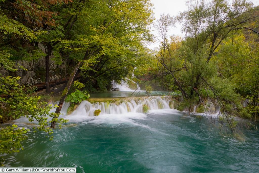 Floating across the water, Plitvice Lakes, Croatia
