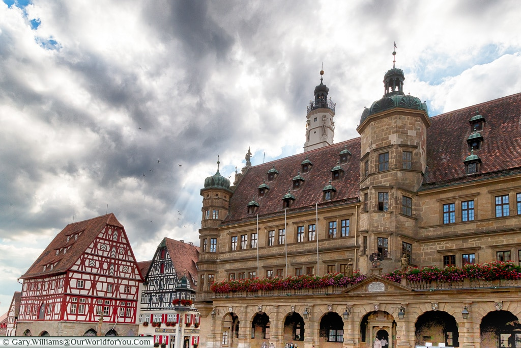 One view from Marktplatz, Rothenburg ob der Tauber, Germany