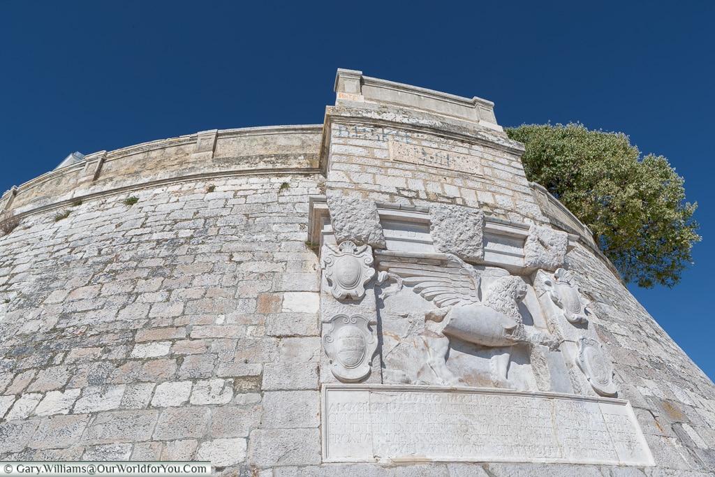 City Walls next to the sea, Zadar, Croatia