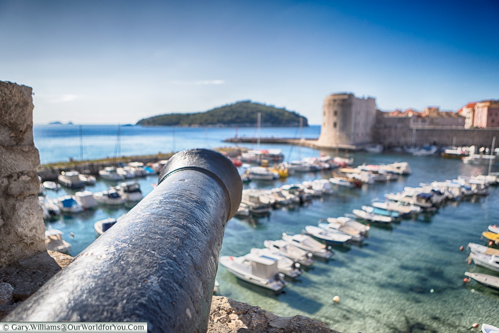 Protecting the old harbour, Dubrovnik, Croatia