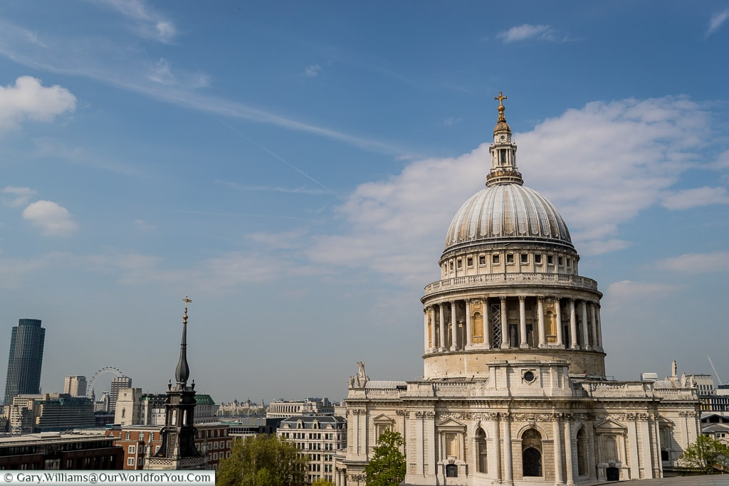 St Pauls from the Roof, City of London, London, England, UK