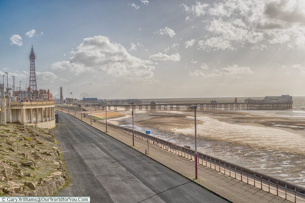 The listed North Pier and Tower, Blackpool, Lancashire, England, UK