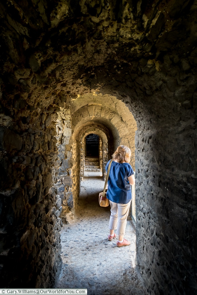 Exploring the castle, , Rochester Castle, Rochester, Kent, England, UK