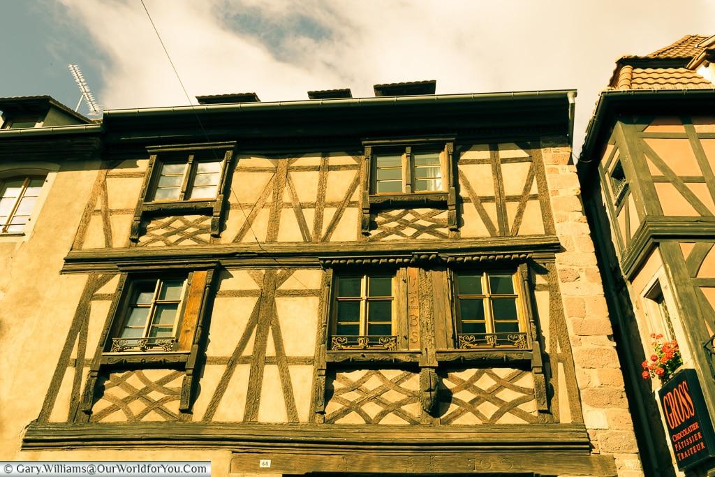 Half-Timbered History, Obernai, Alsace, France