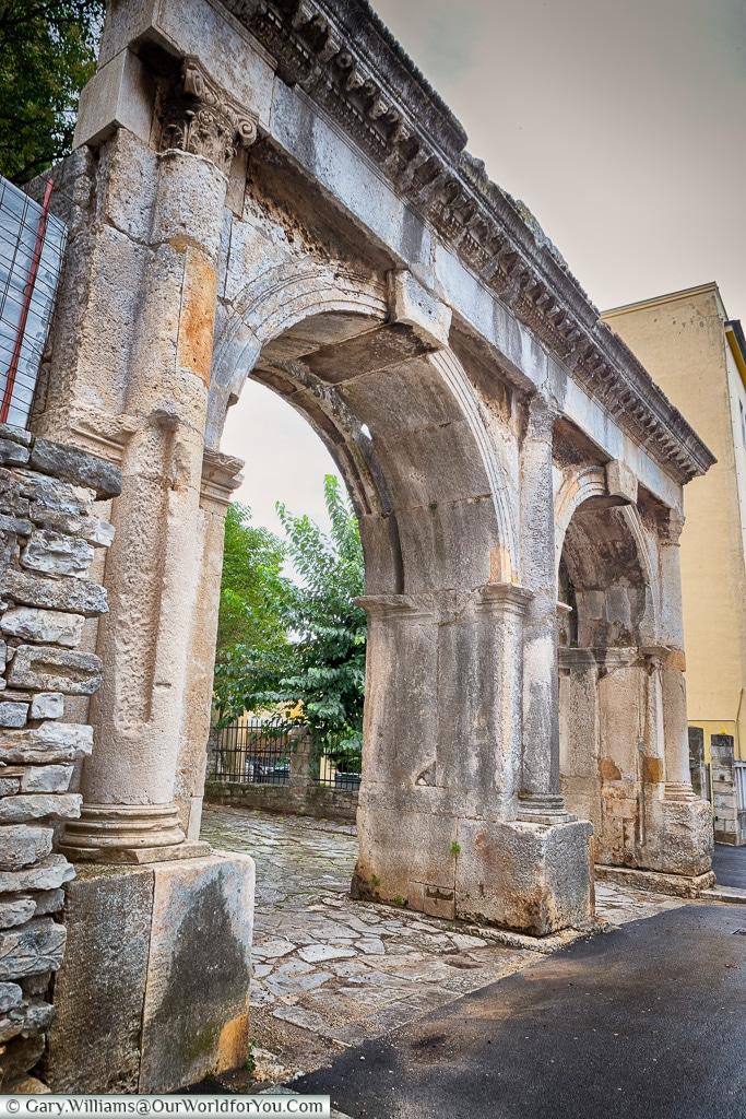 The twin gate,Pula, Croatia