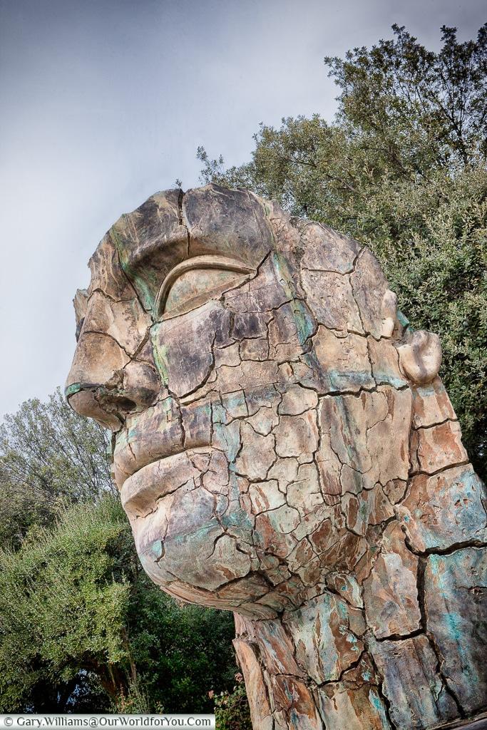 Sculptures in the Giardino della Scuderie Reali , Florence, Tuscany, Italy