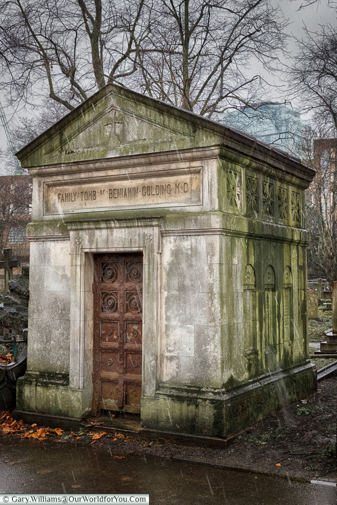 The Family tomb of Dr Benjamin Golding, Brompton Cemetery, London, England, UK
