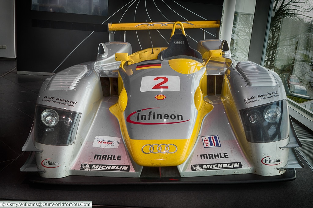 The Le Mans winning Audi R8, Audi Museum, Ingolstadt, Germany