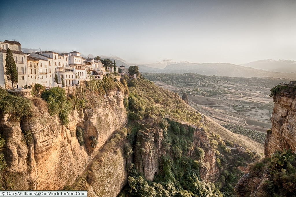 The view from Puente Nuevo or the New Bridge, Ronda, Spain