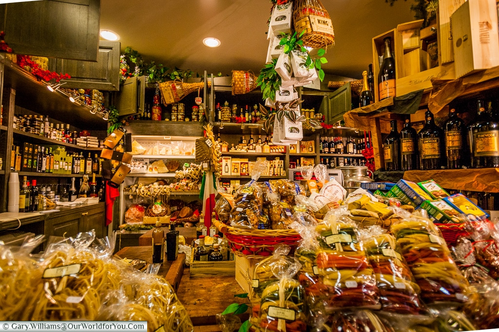 A typical stall at the market, Florence, Italy