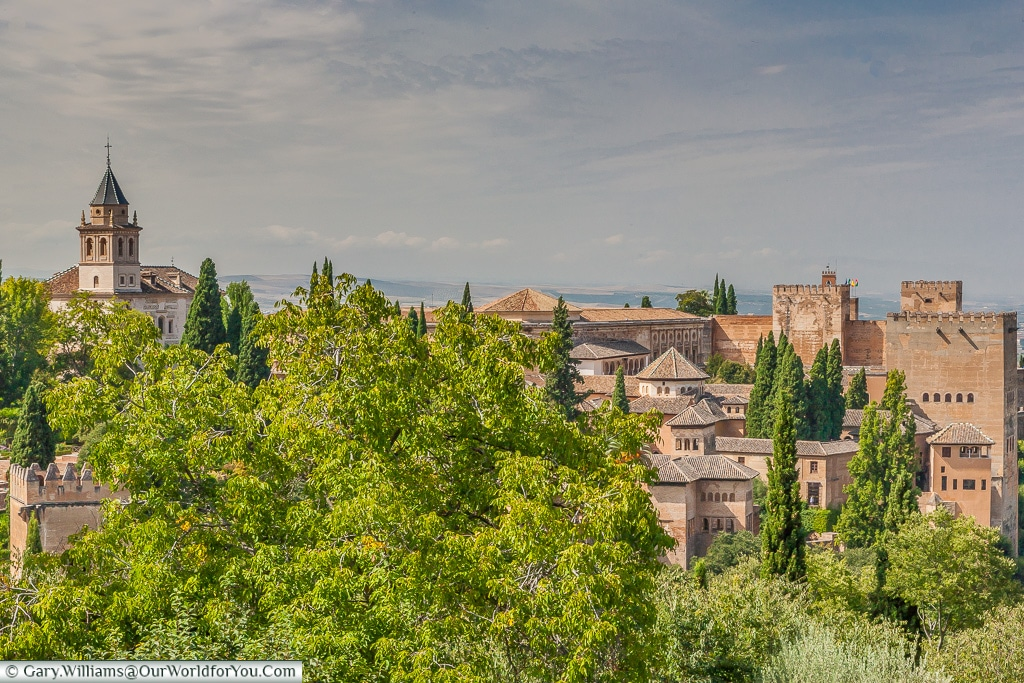 A view from the gardens, Granada, Spain