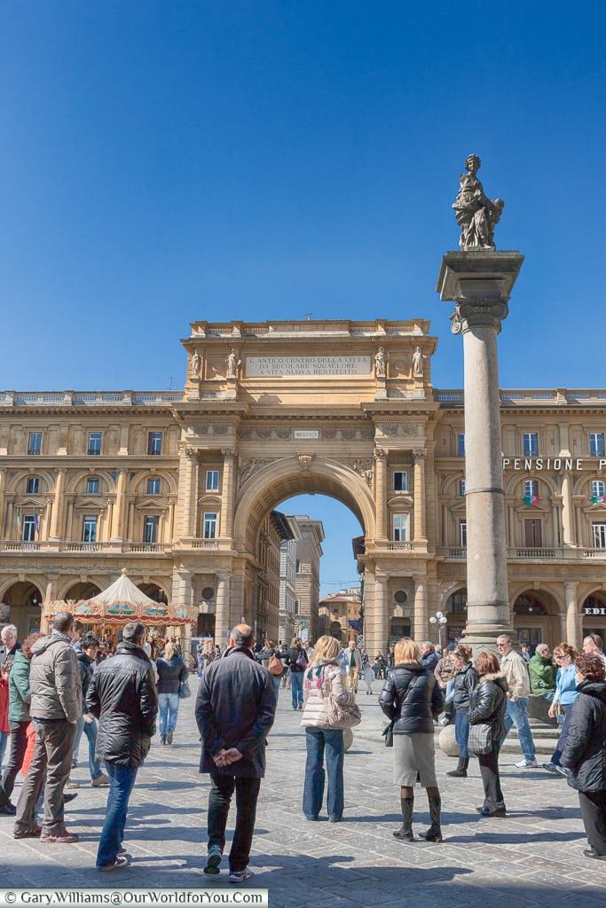 Piazza della Repubblica, Florence, Tuscany, Italy