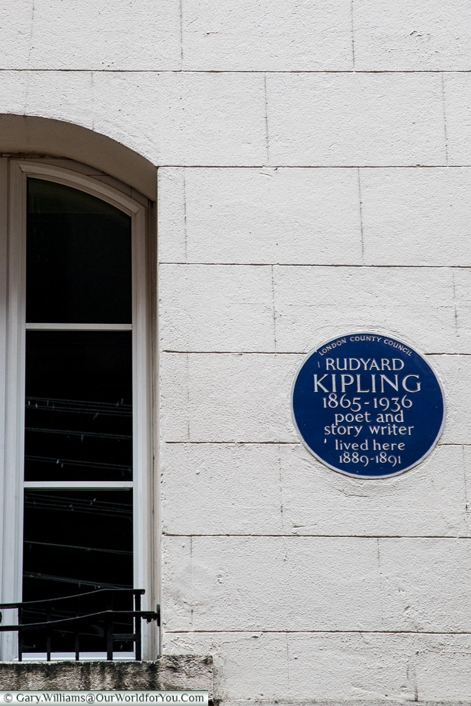 We all know Rudyard, dont we? Blue Plaques, London, England