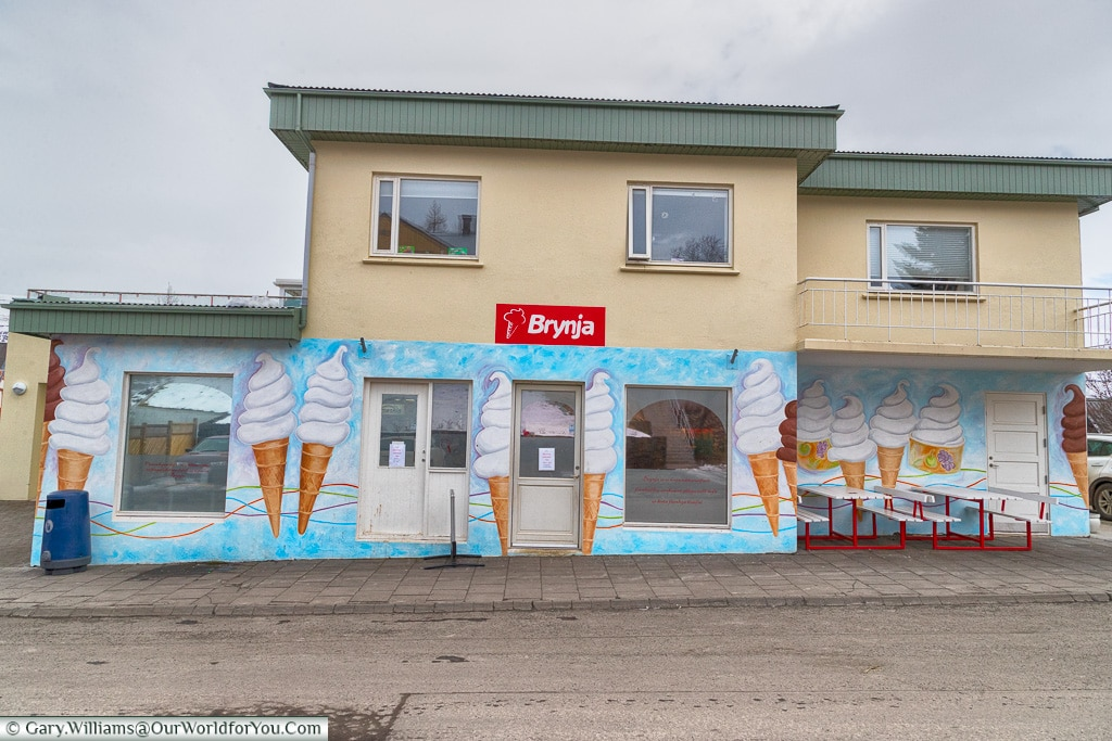 Brynja - The Ice cream shop, Akureyri, Iceland
