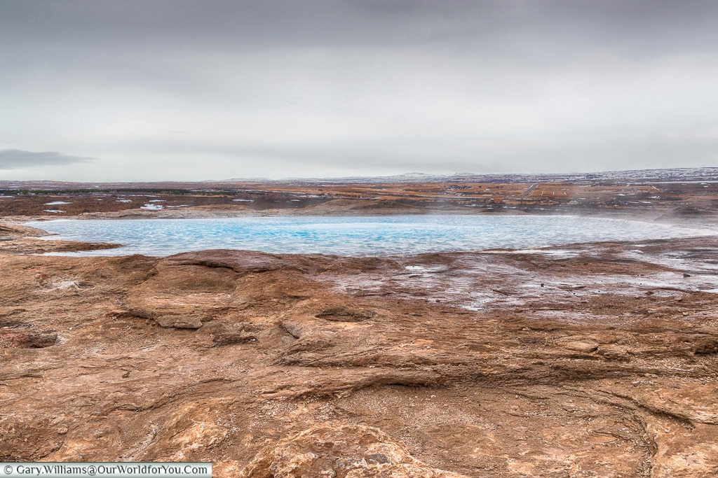 A hot pool at Haukadalur, Iceland