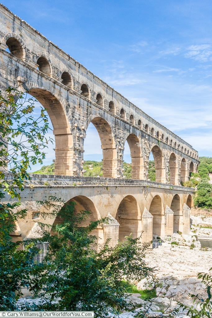 A view of the Pont du Gard, France