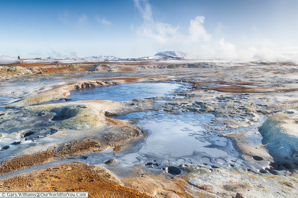 The mud pools of Námafjall Hverir, Iceland