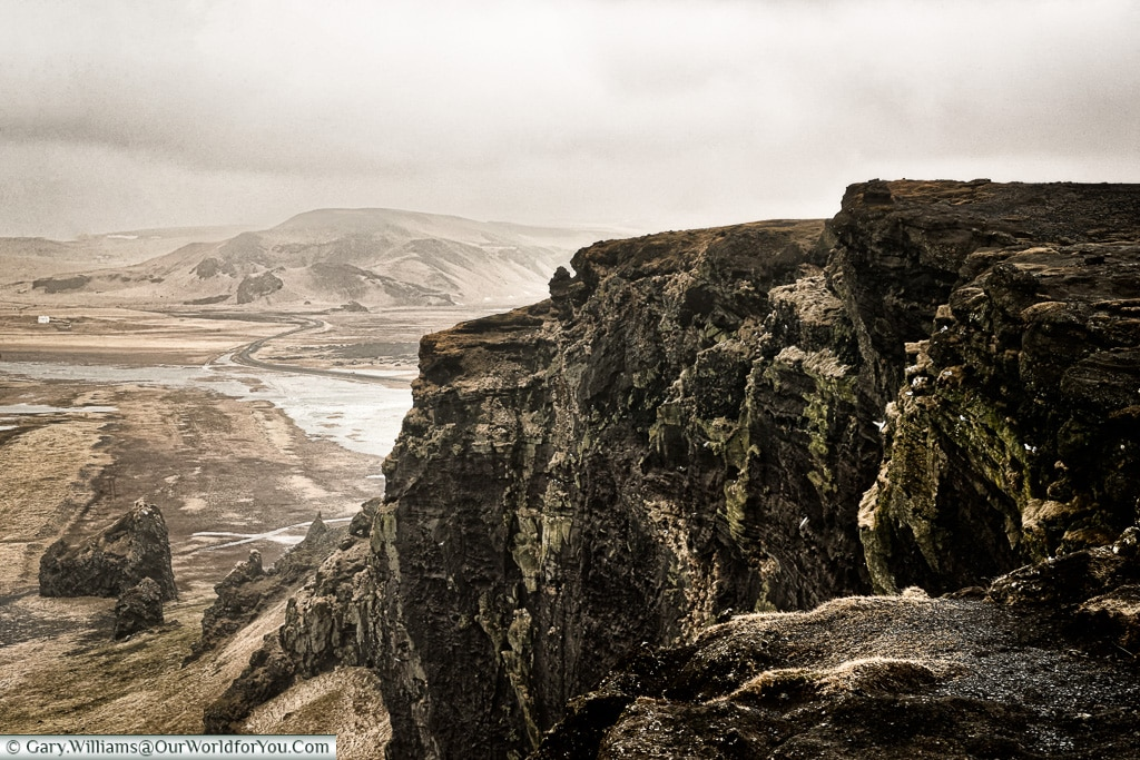 The rugged landscape of southern Iceland