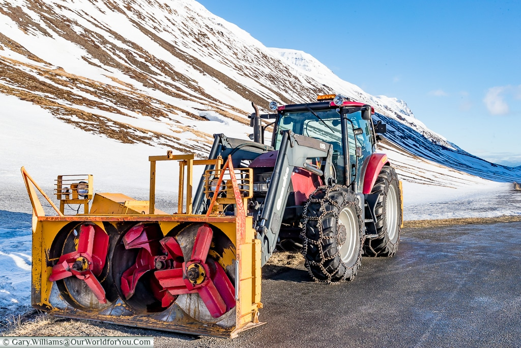 Ready to clear a serious amount of snow, always prepared in Iceland