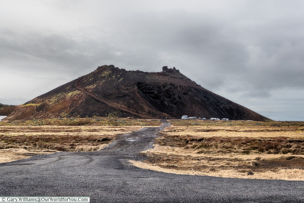Saxholl - Saxhólar Crater from the road, Iceland