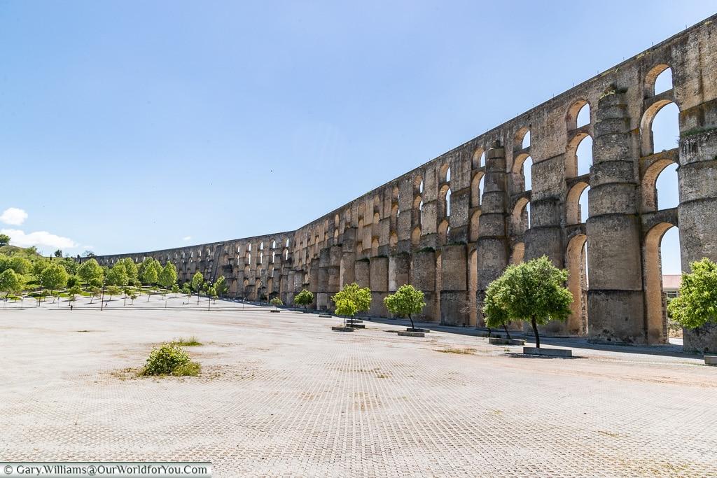 The Amoreira Aqueduct in Elvas, Portugal