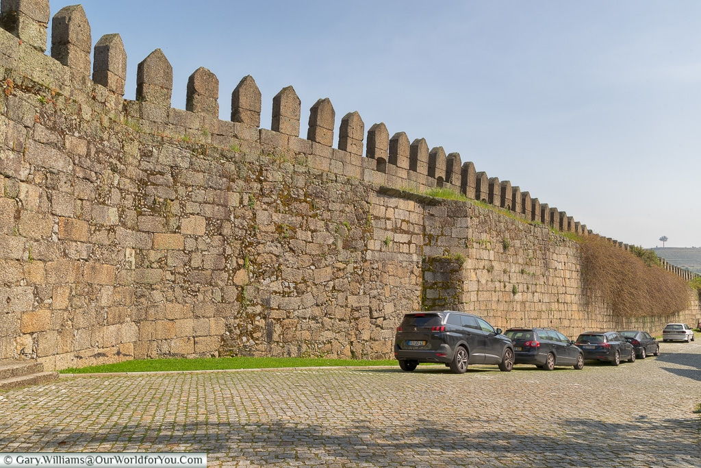 The old city walls of  Guimarães, Portugal