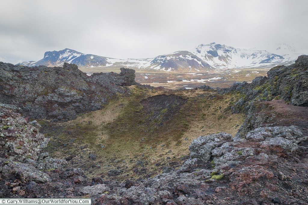 The view from Saxholl - Saxhólar Crater, Iceland