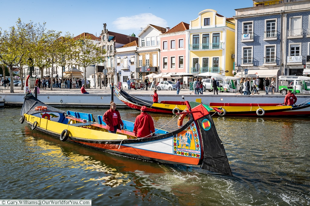 Traditional boats in Aveiro, Portugal
